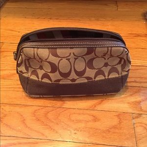 Coach make up pouch
